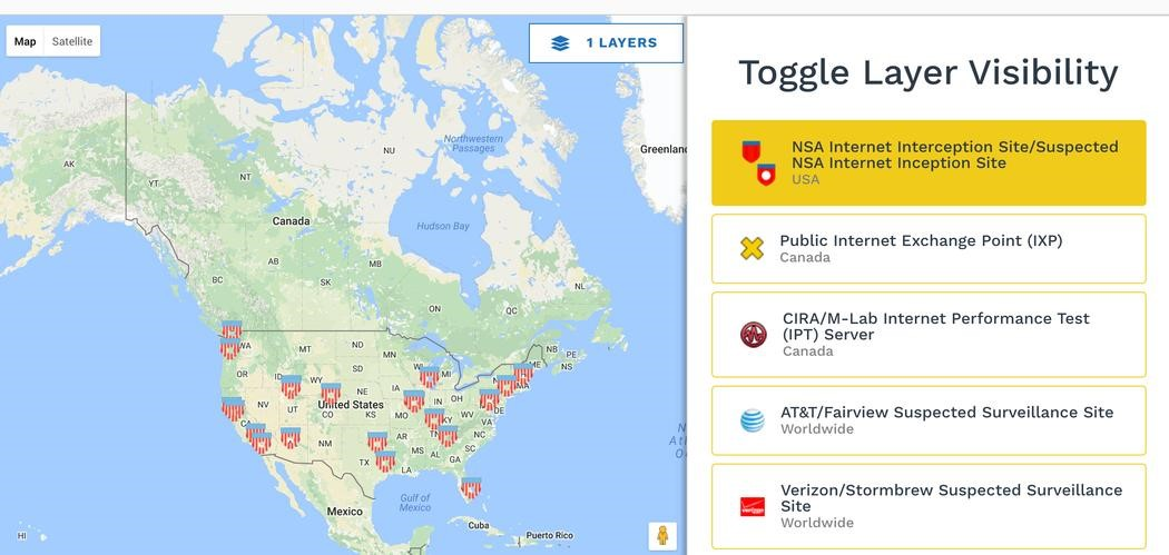 Launch Of IXmaps Internet Mapping Tool Enables Canadians To See - Us internet map
